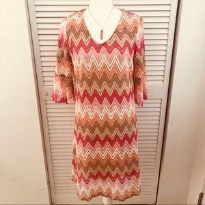 Tacera Laced Fully Lined Zig Zag Designed Dress